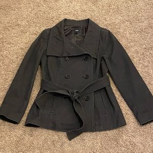 Gap Charcoal Gray Double Breasted Pea Coat